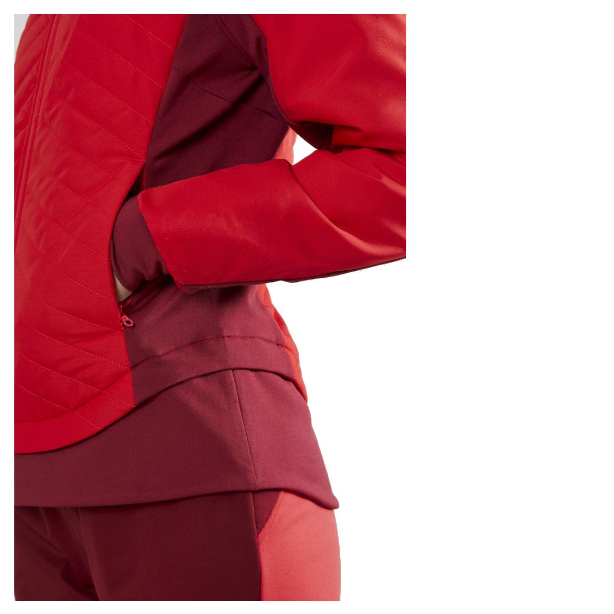 MANTEAU COUPE VENT ROUGE CRAFT STORM THERMAL FEMME