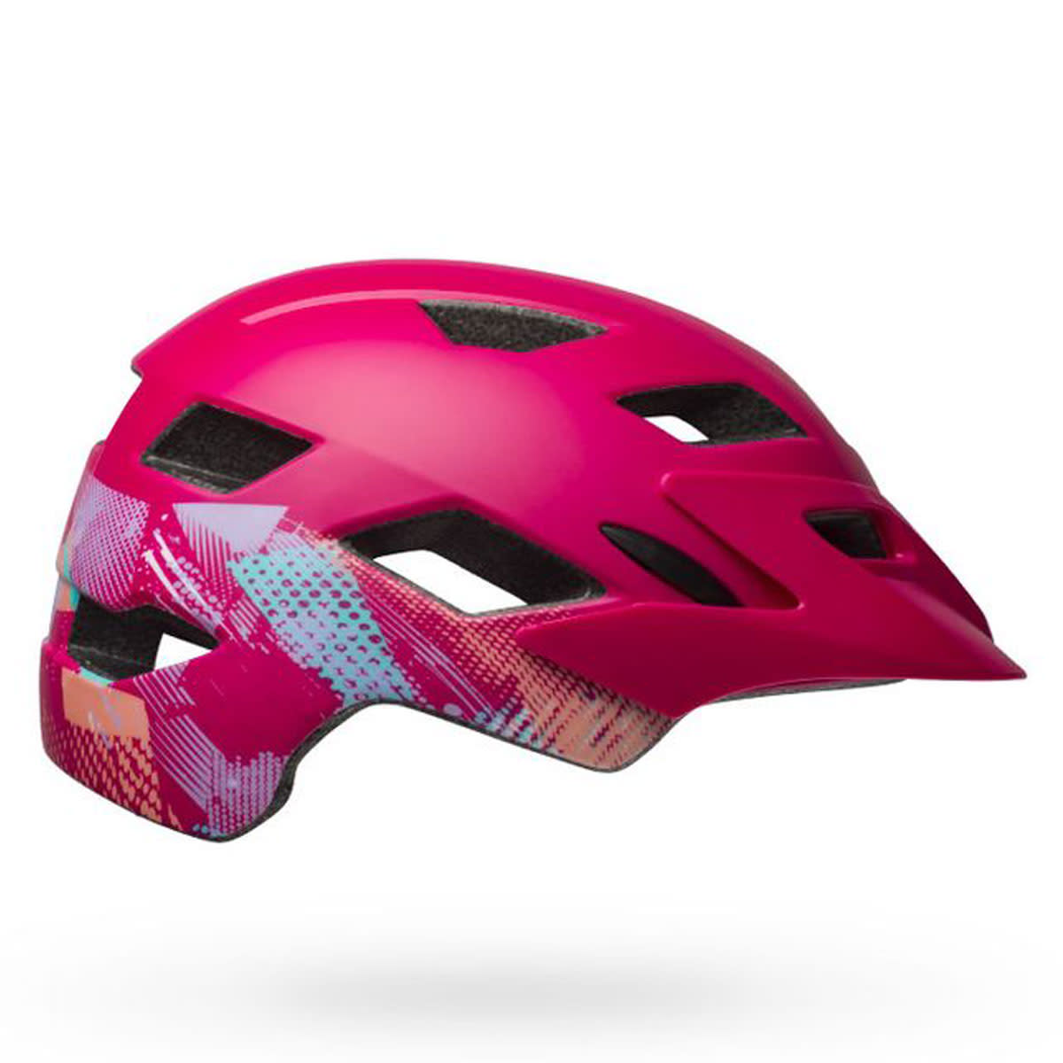 CASQUE VELO BELL SIDETRACK YOUTH 2019 FUSHIA GRAPHIQUE