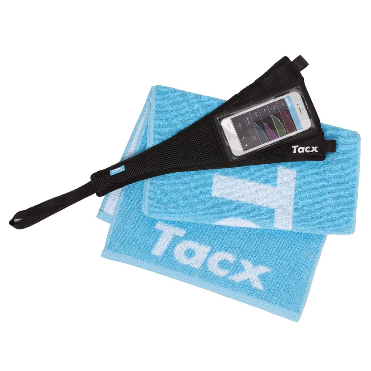 ENSEMBLE TACX T2935  INCLUANT PROTECTEUR DE TRANSPIRATION ET SERVIETTE