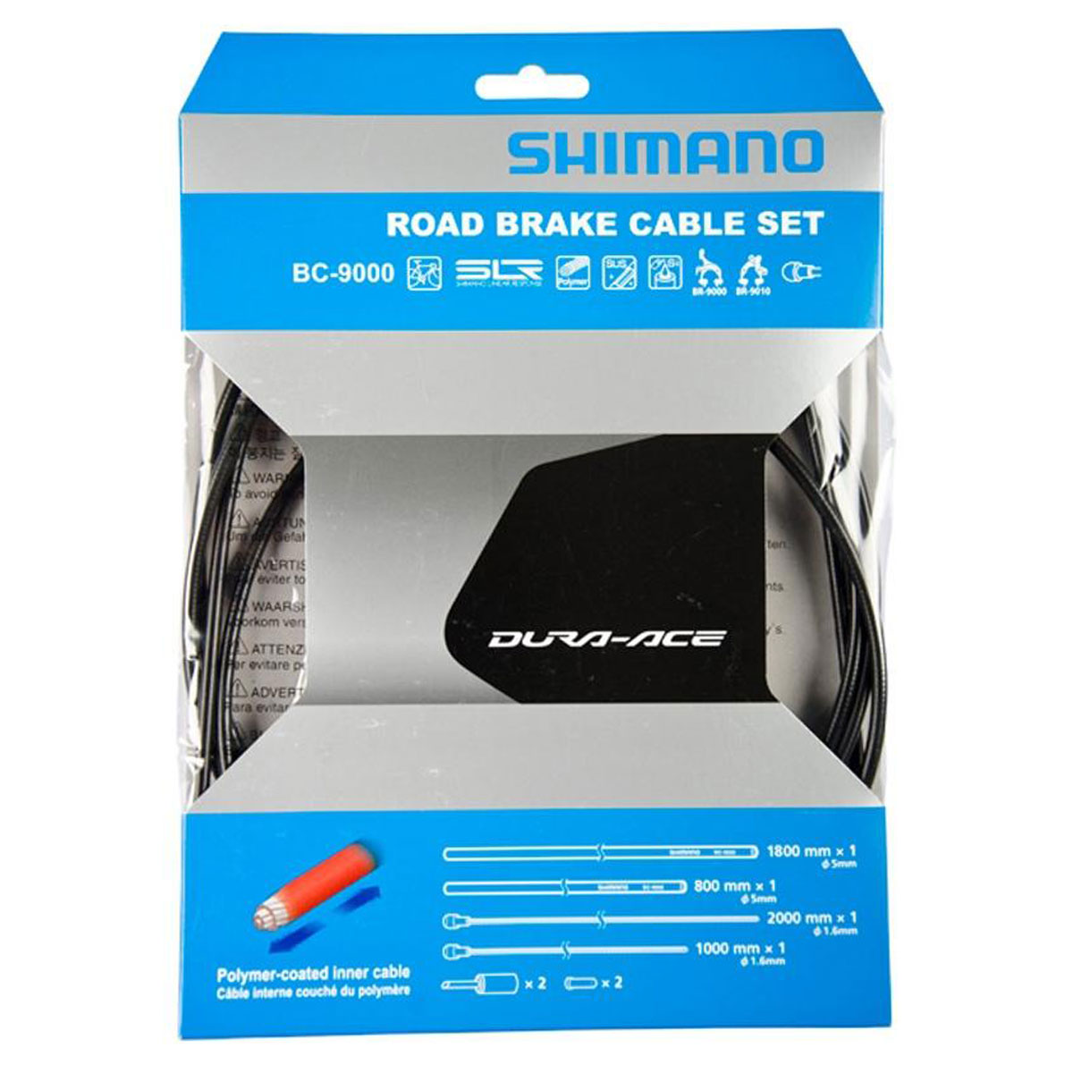 ENSEMBLE CABLE/GAINE FREIN SHIMANO DURA-ACE 9000 - POLYMER COATED - NOIR