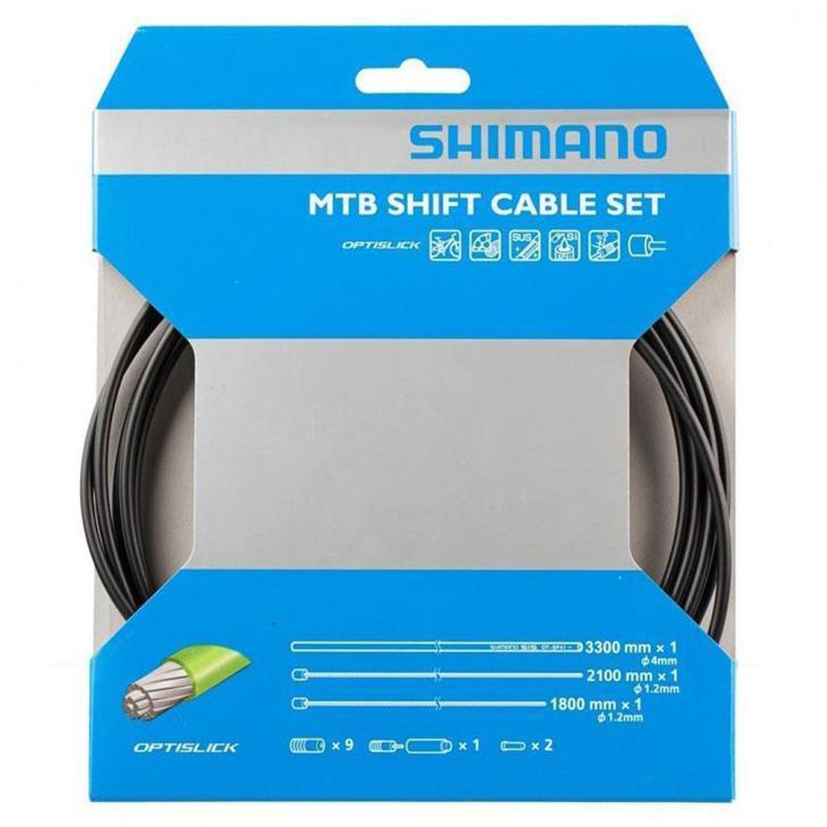 ENSEMBLE CABLE/GAINE VITESSE SHIMANO SET MTB OPTISLIK NOIR