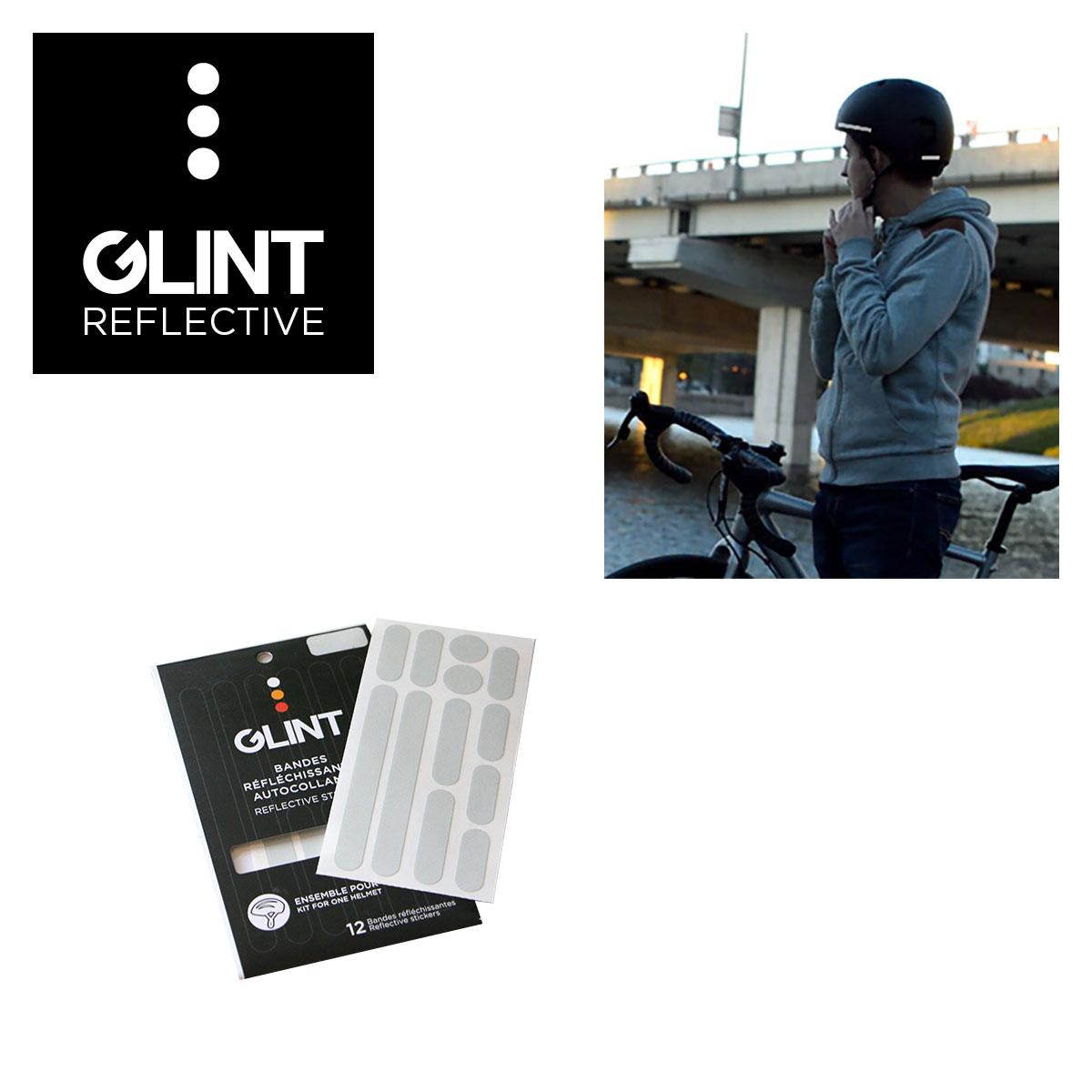 ENSEMBLE DE COLLANTS REFLECHISSANTS POUR CASQUE GLINT REFLECTIVE BLANC