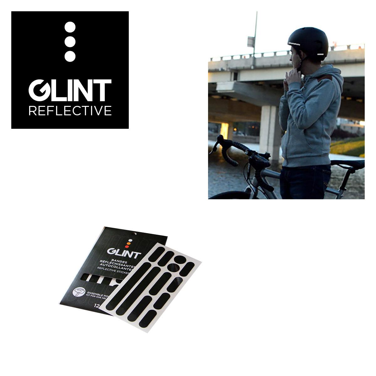 ENSEMBLE DE COLLANTS REFLECHISSANTS POUR CASQUE GLINT REFLECTIVE NOIR