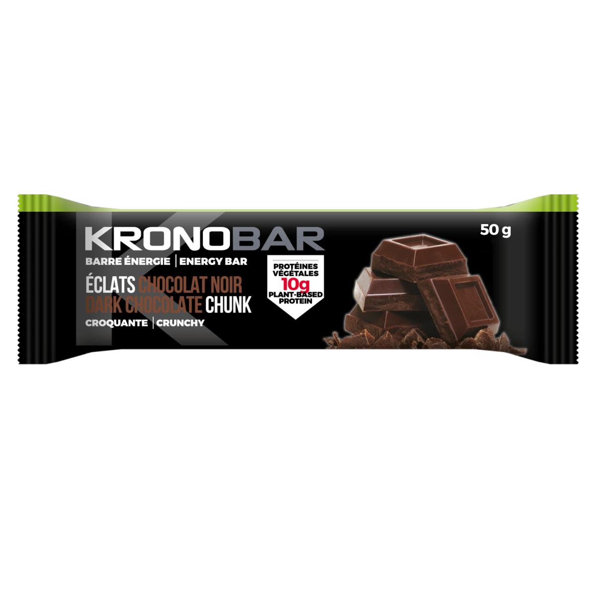 BARRE ENERGETIQUE PROTEINEE KRONOBAR ECLAT CHOCOLAT NOIR