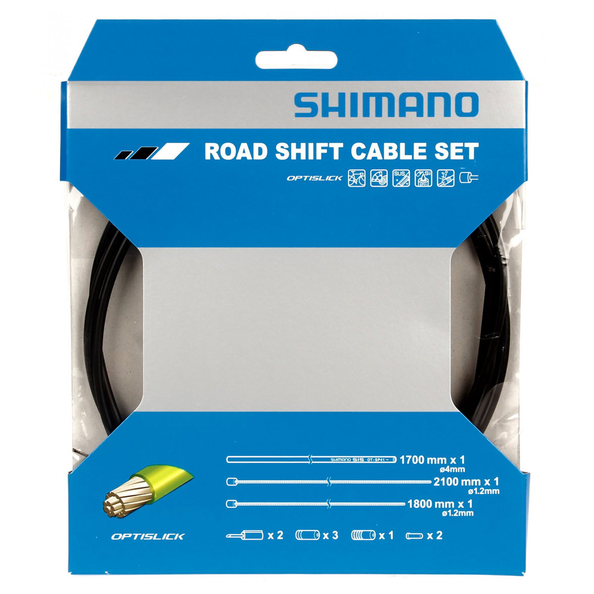 ENSEMBLE CABLE/GAINE VITESSE SHIMANO ROUTE OPTISLIK NOIR
