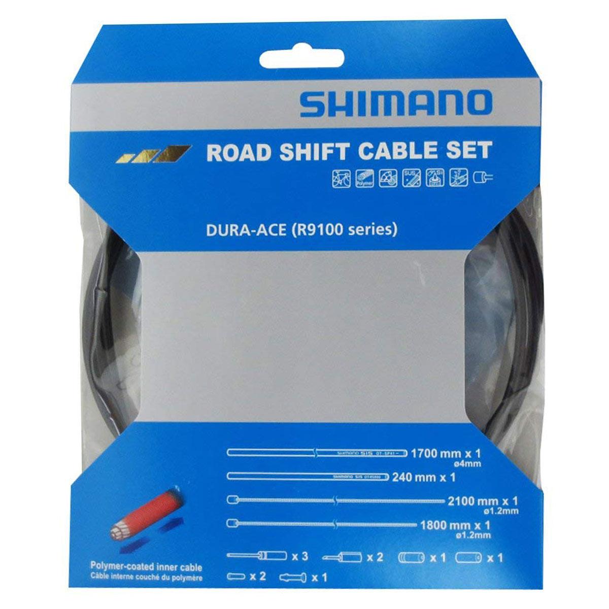 ENSEMBLE CABLE/GAINE VITESSES SHIMANO DURA-ACE RS9100 NOIR