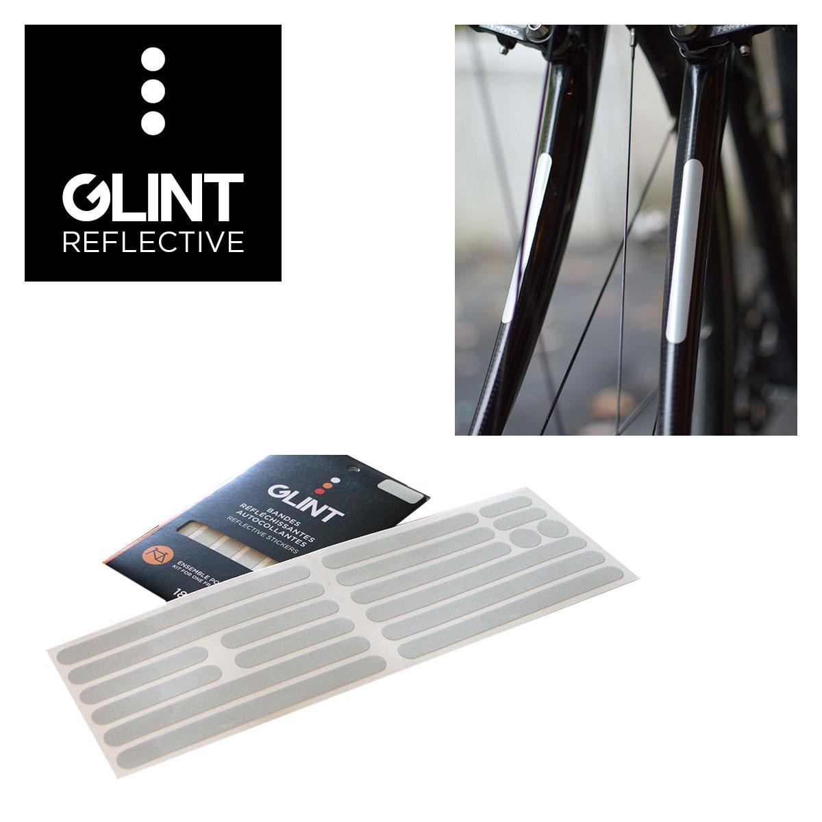 ENSEMBLE DE COLLANTS REFLECHISSANTS POUR CADRE GLINT REFLECTIVE BLANC