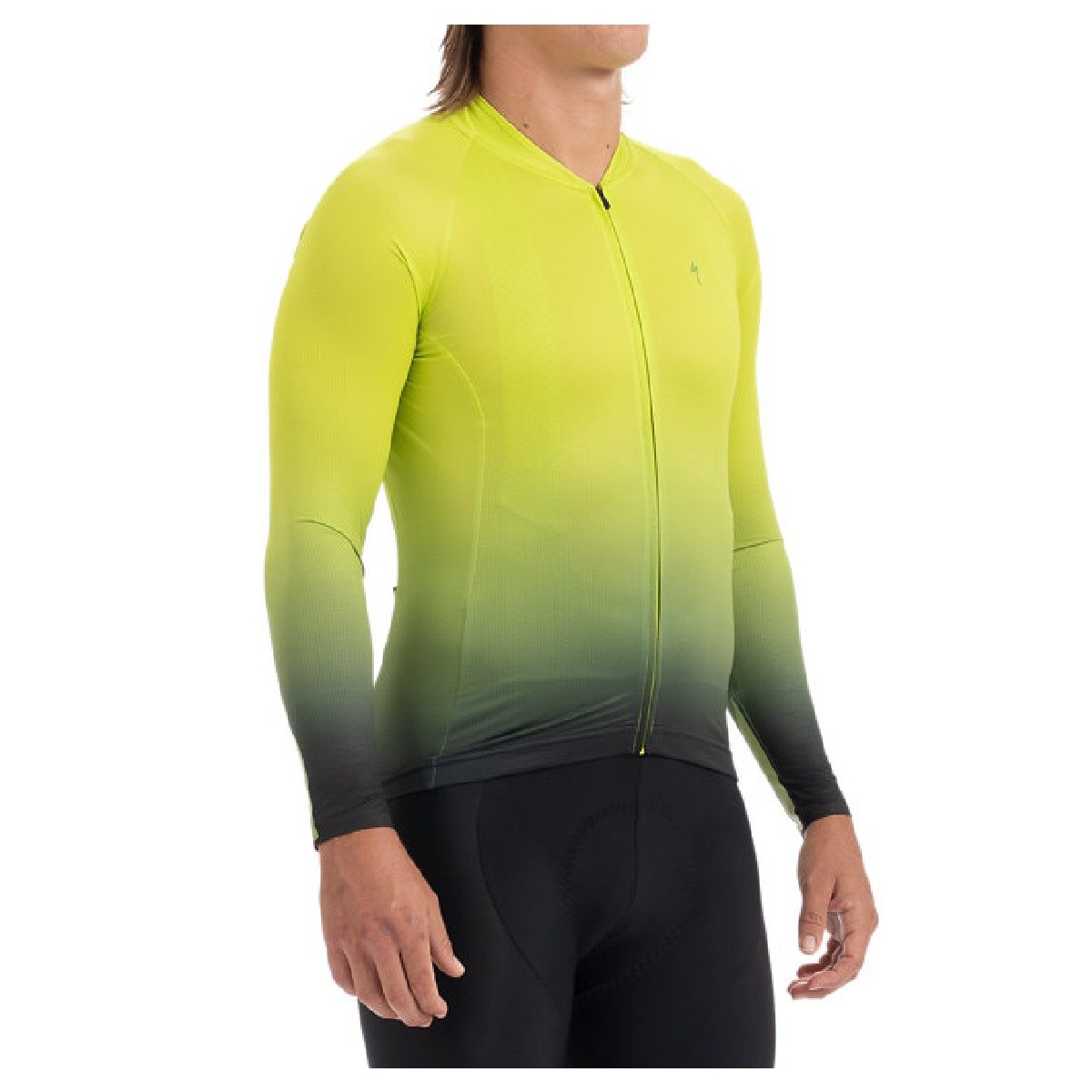MEN'S HYPRVIZ SL AIR LONG SLEEVE JERSEY DEGRADE JAUNE VERT GRIS HOMME