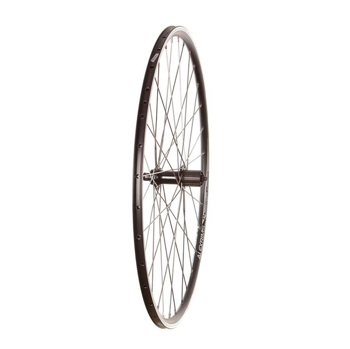 Wheel Shop, ROAD - 700C - ALEX DA22 BLACK/ STAINLESS SPOKES, Wheel, Rear, 700C, Sora FH-RS300, DA-22, Black, 32, Stainless, QR, 130mm, Shimano Road 10/ MTB 11, Rim, Double wall