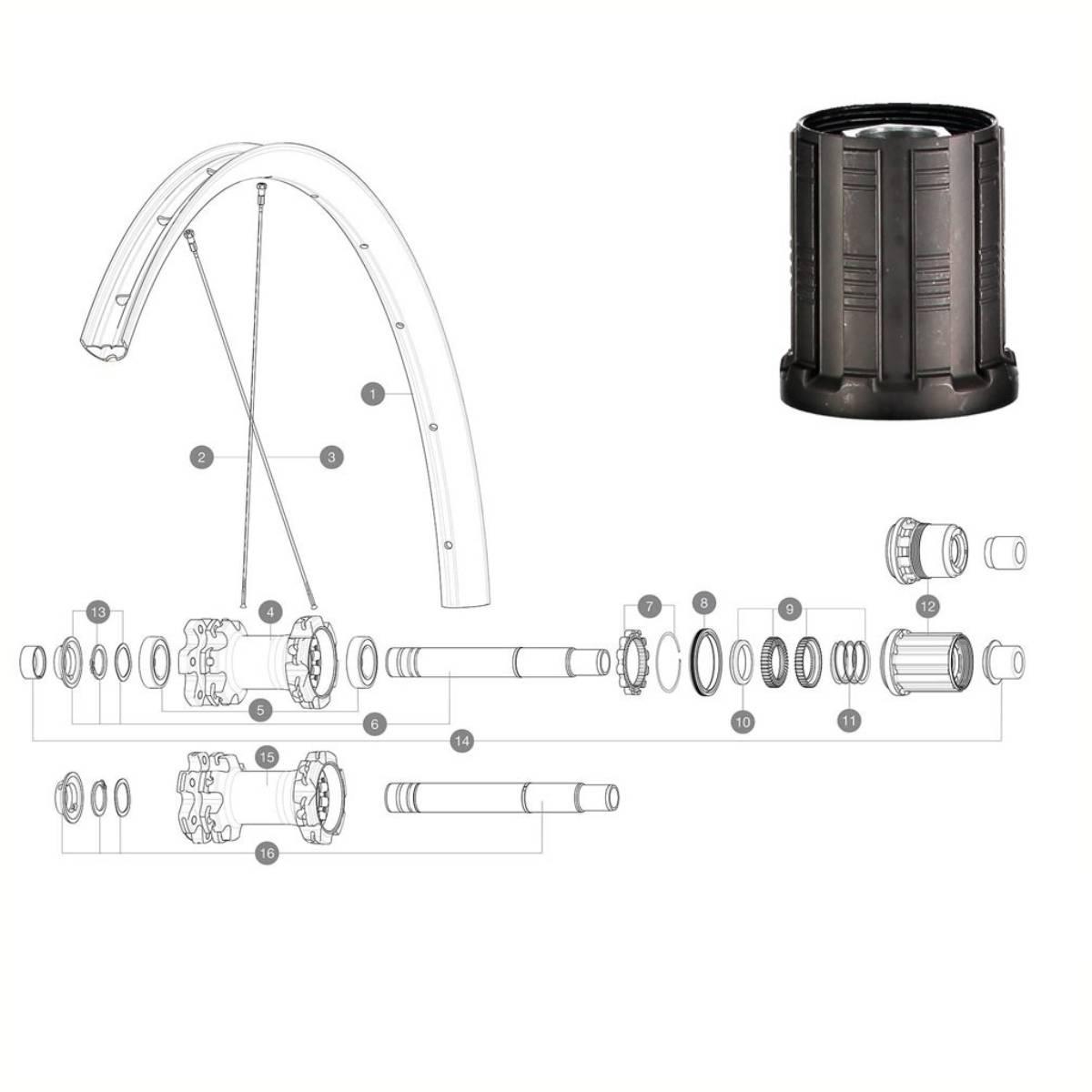 MAVIC 2 ratchets 40T + MTBSpring + Grease - ID360 MTB