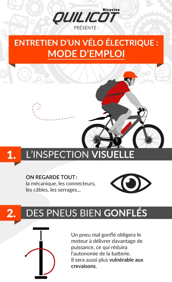 Entretien annuel du vélo électrique