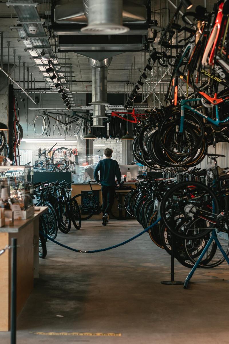 Boutique de vélo vide