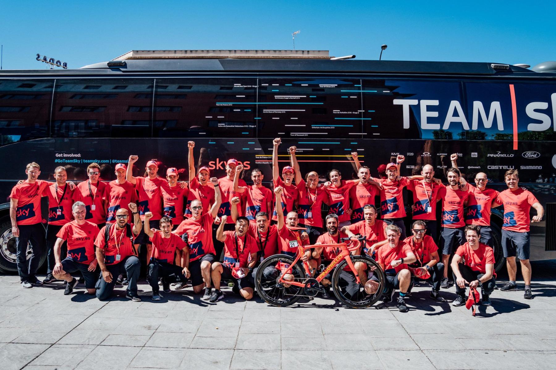 Team Sky sur la Vuelta 2017