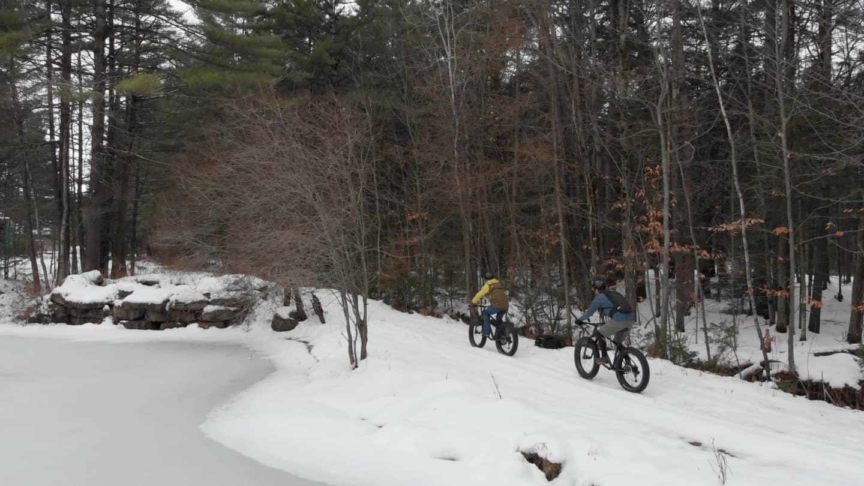 Sentier fatbike au Quebec