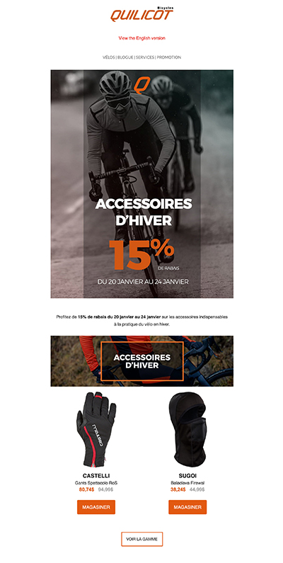 Infolettre Bicycles Quilicot